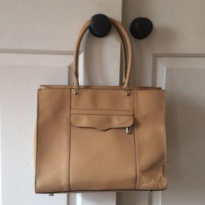 Rebecca Minkoff large tote handbag, beige